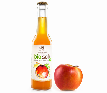 Organic pressed apple juice