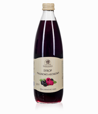 Raspberry–aronia syrup